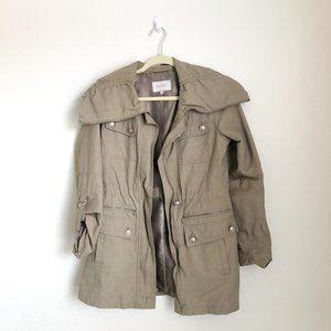 Laundry Shelli Segal Tan Drawstring Utility Jacket